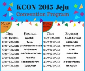 Convention schedule