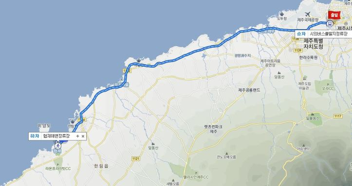 from-intercity-bus-terminal-to-hyeopjae-beach