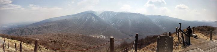 View looking south from Eoseungsaengak Peak